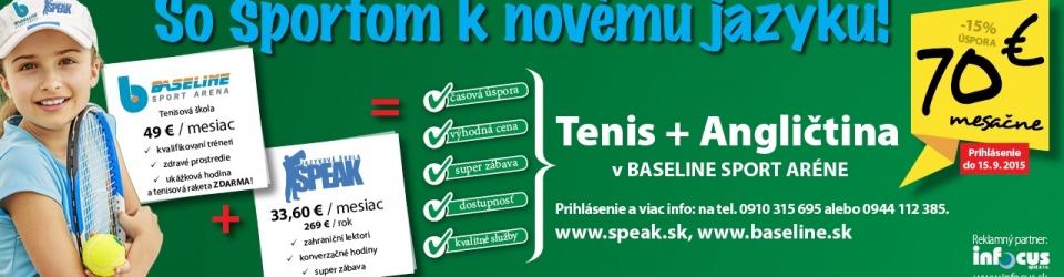 Tenis+Angličtiina v Baseline
